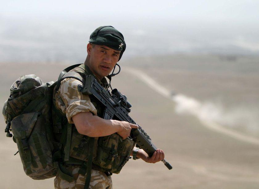 Gurkha patrolling in Afghanistan