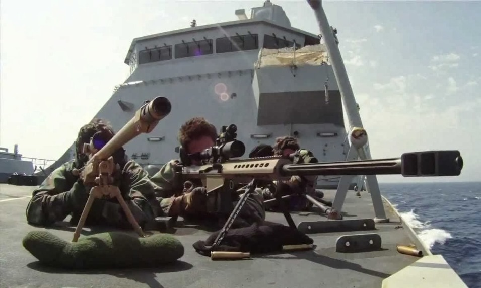 Shooting from a ship onto another boat is not an easy task.