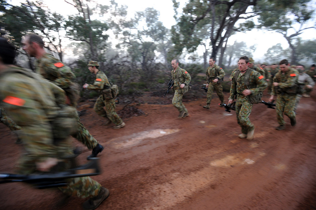 Potential recruits are assessed on their effectiveness on individual and team tasks with extremely limited rest. Photo: LAC Leigh Cameron
