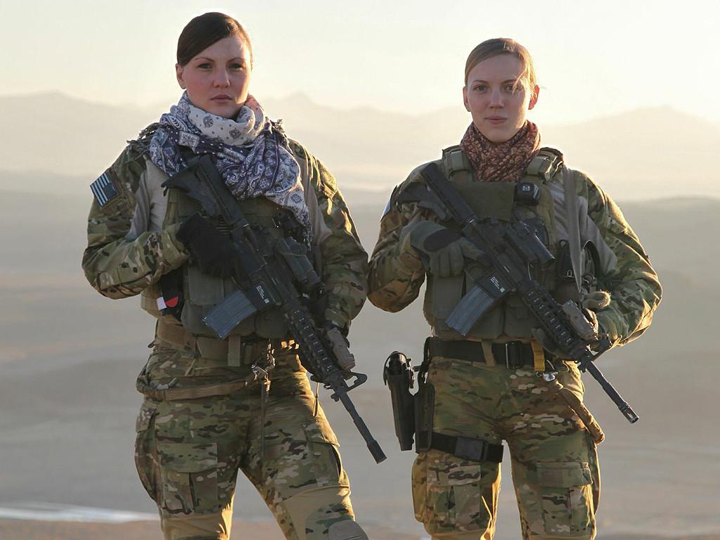 Staff Sgt. Kat Kaelin (left) and 1st Lt. Caroline Cleveland, Afghanistan 2012