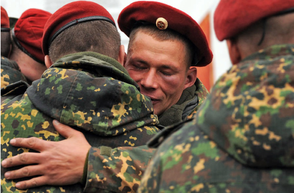 Russian Soldiers Battered and Bruised Celebrate Source: Sergey Shapran